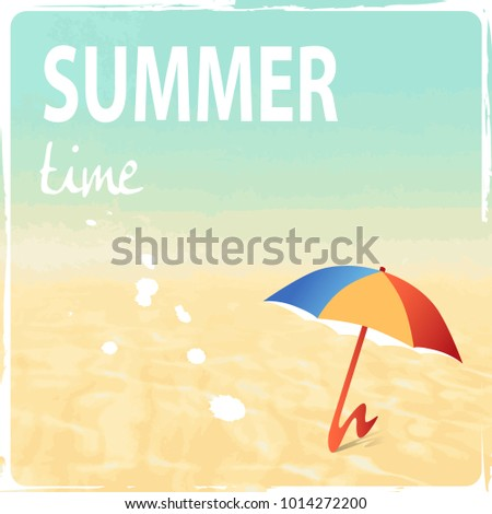 Holiday concept - beach background - summer vacation theme