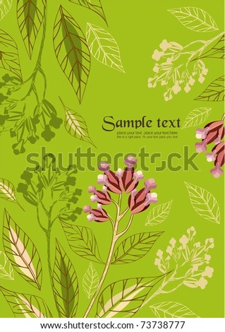 holiday floral background easy to modify - stock vector