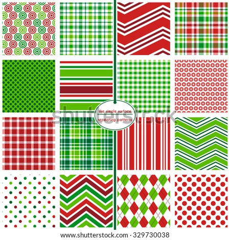 Holiday Hodgepodge: 16 different plaids, stripes, polka dots, chevrons and more.  Great for cards, scrapbooking, gift wrap, gift cards and gift tags.