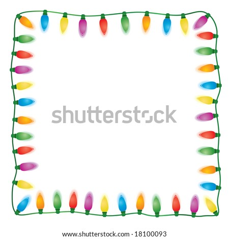 Holiday Light On White Background. Easy To Edit Vector Image. - stock vector