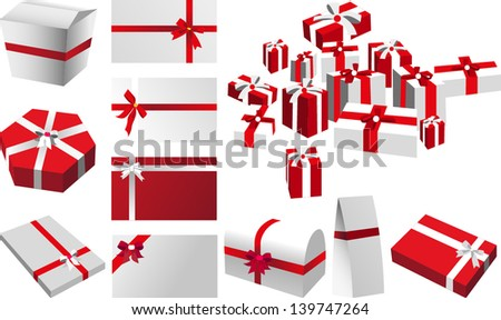 holiday packages - stock vector