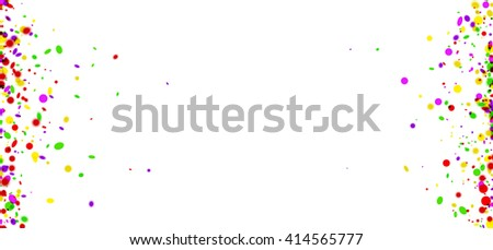 Holiday paper background with color confetti. Vector illustration.