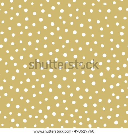 Holiday pattern - snow on golden background