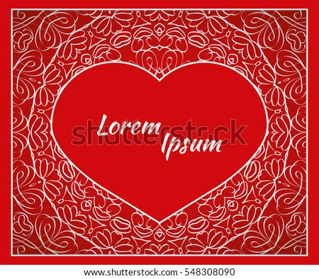 Holiday postcard frame your greetings valentines stock vector holiday postcard frame for your greetings with valentines day invitation holiday wedding m4hsunfo