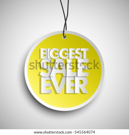Holiday Specials Clearance Sale Round Banner Tag Biggest Ever Abstract Circle Background Advertising