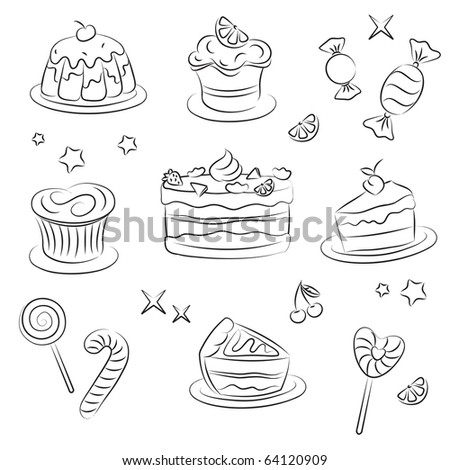 Holiday Sweets - stock vector