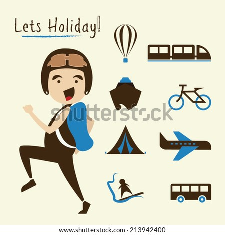 holiday time. vector illustration.