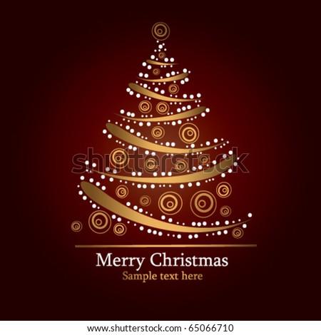 holiday tree - stock vector