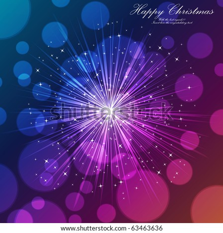 holiday wavy template with shining stars and copyspace - stock vector