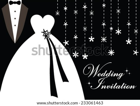 Holiday Wedding Invitation in Black