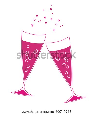 Holiday wineglasses - stock vector