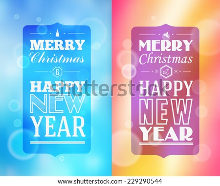 Holidays. Frame happy merry christmas - new year  - stock vector