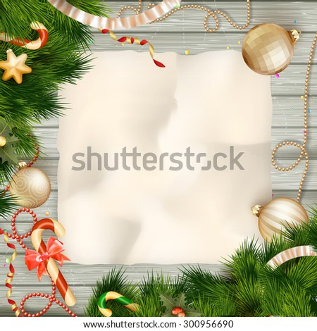Holidays greeting and Christmas card. EPS 10 vector file included - stock vector