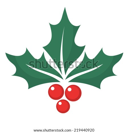 Holly berry. Vector illustration - stock vector