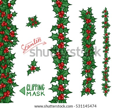 Holly Border Stock Images, Royalty-Free Images & Vectors ...