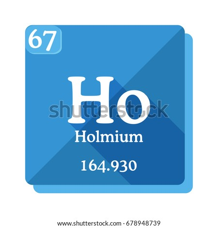 Holmium ho element periodic table vector stock vector 678948739 holmium ho element of the periodic table vector illustration in flat style urtaz Gallery