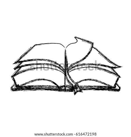 Elegant Fountain Pen Book Stock Vector 365879663
