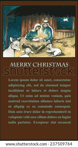 Holy Family - stock vector