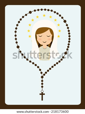 holy mary design , vector illustration - stock vector