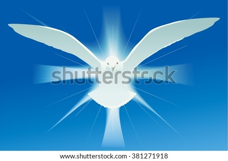 Holy spirit symbol - stock vector