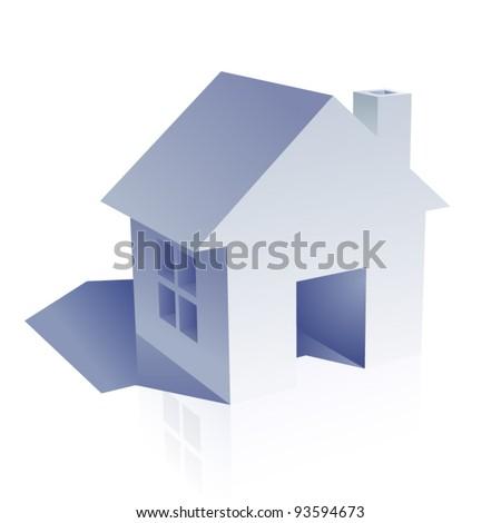 home - stock vector