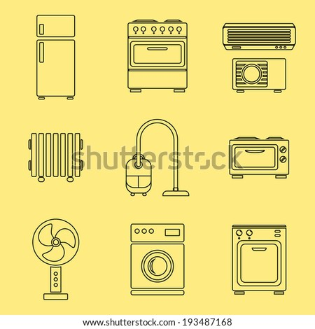 Standard Furniture Symbols Used Architecture Plans Stock ...