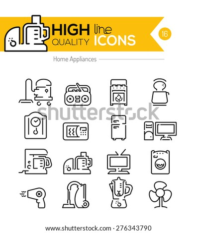 Home Appliances - stock vector