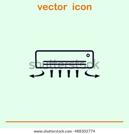 Home appliances icon. Air Conditioning icon. Vector illustration. Split System.