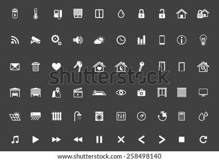Home Automation, Smart Home Icon Set, Home Management Vector - stock vector