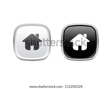 Home Buttons - stock vector