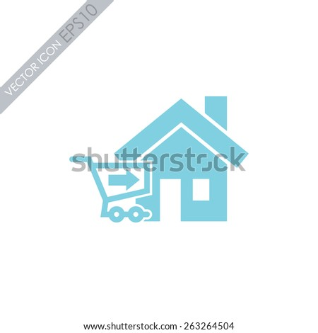 Home delivery vector icon. - stock vector