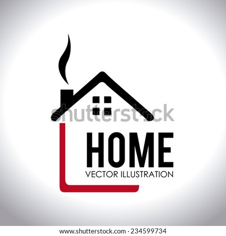 Home Design Over White Background, Vector Illustration.