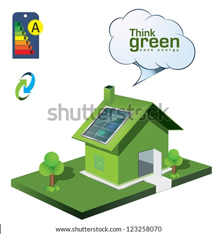 home energy icons - stock vector
