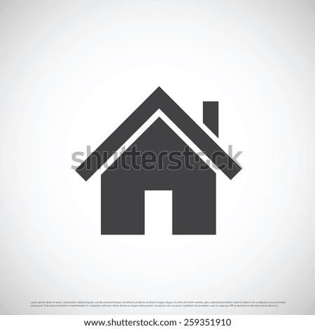 Home estate icon design - stock vector