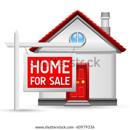 home for sale icon - stock vector
