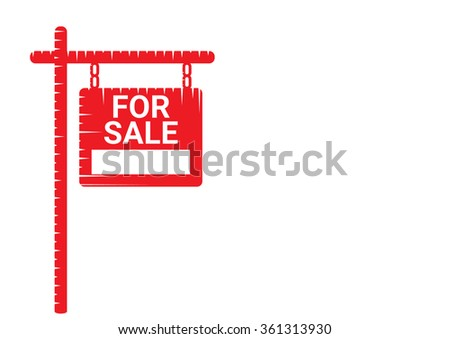 Home For Sale Real Estate Sign  . House Real Estate logo design - stock vector