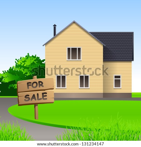 Home for sale vector background