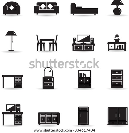 Home furniture icon - stock vector