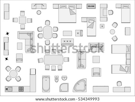 Furniture Top View Stock Images Royalty Free Images