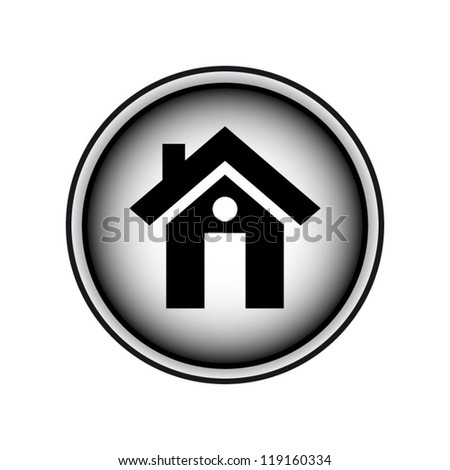 Home icon black and white design isolated on white background - stock vector