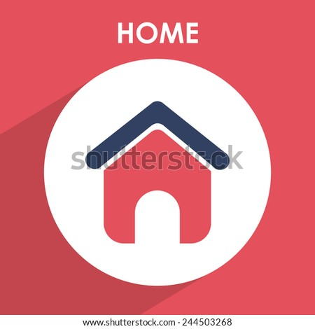 home icon design, vector illustration eps10 graphic - stock vector