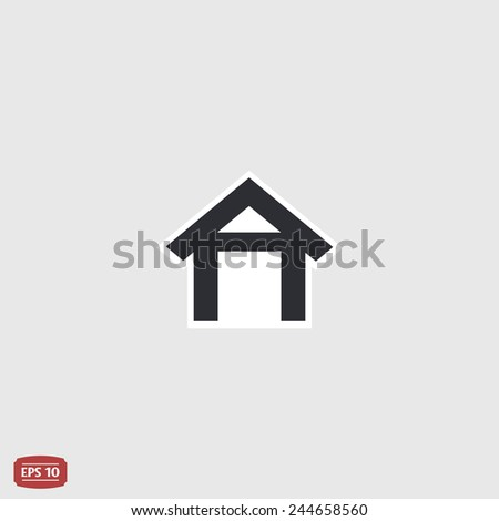 Home icon. Flat design style. Made vector illustration - stock vector