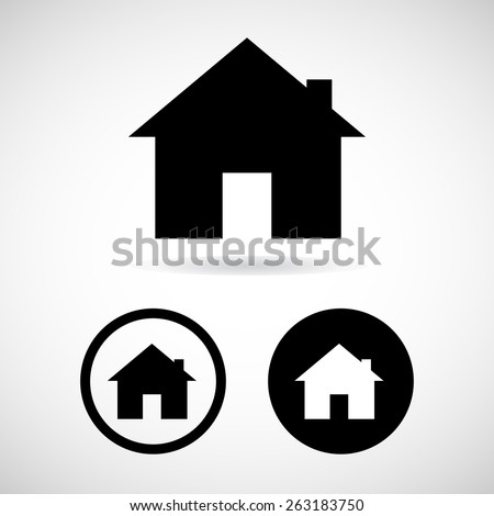 home icon great for any use. Vector EPS10. - stock vector