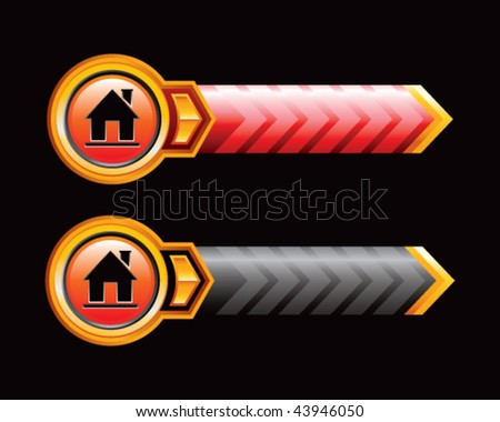 home icon red and black arrows