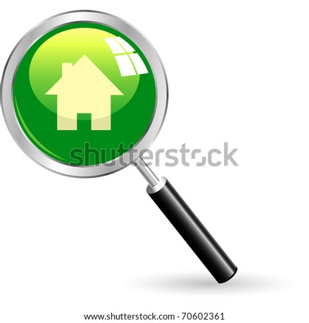 Home icon. Vector illustration. - stock vector