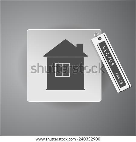 home icon web sign. eps10 vector - stock vector