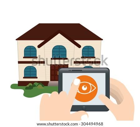 Home Insurance digital design, vector illustration 10 eps graphic - stock vector