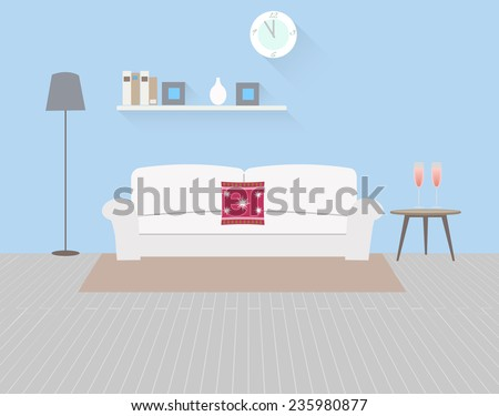 Illustration interior livingroom modern vector stock for Is there a website to design a room
