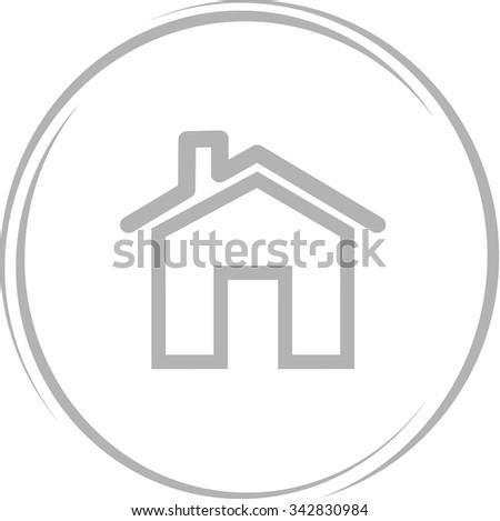 home. Internet button. Vector icon. - stock vector