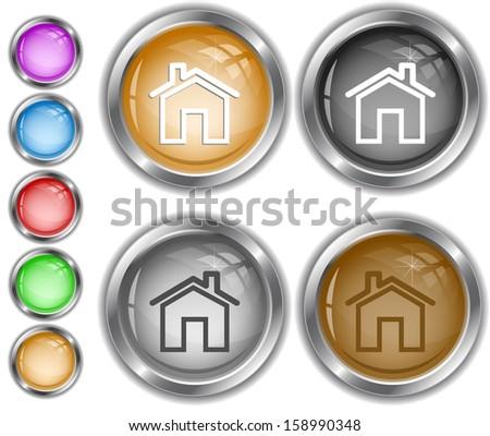Home. Internet buttons. - stock vector